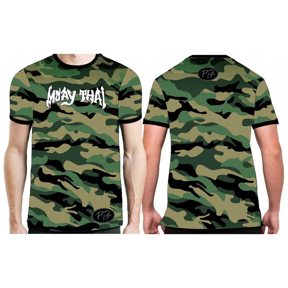 Camisa Camiseta Muay Thai Camuflado Selva - Fb-2059 - Verde