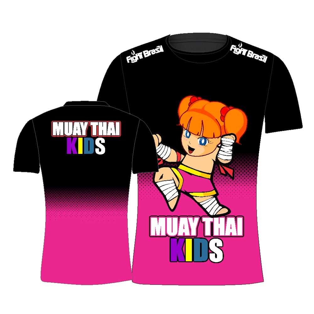Camisa Camiseta Muay Thai Kids Feminina - Infantil - Fb-2068