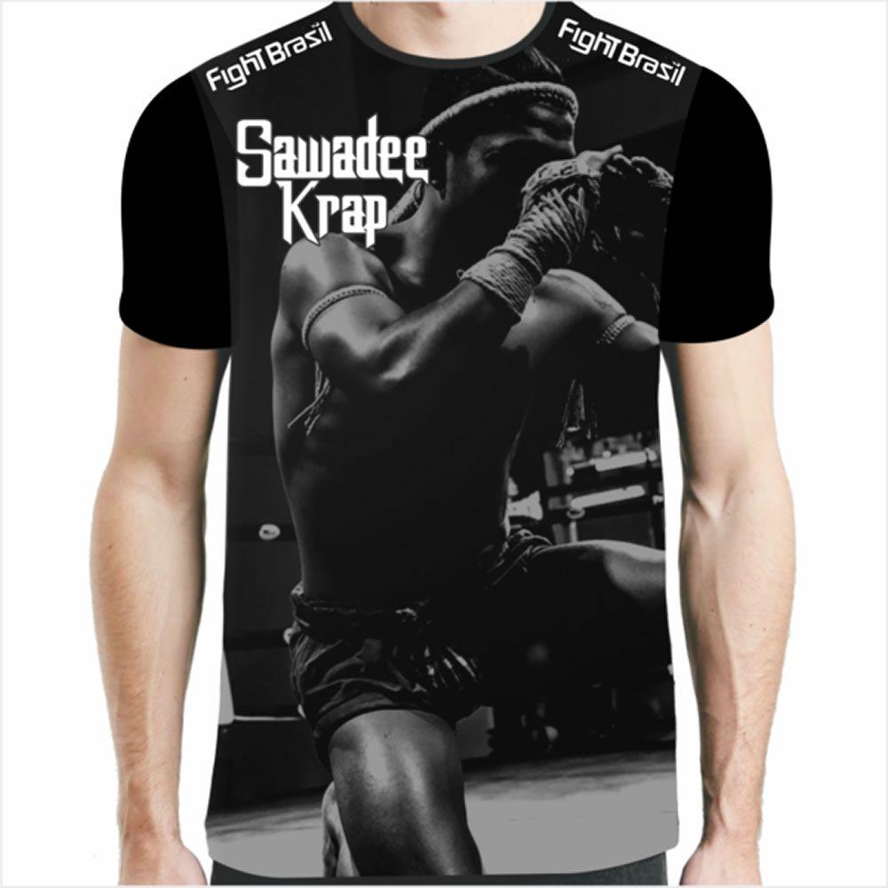 Camisa Camiseta Muay Thai - Motivacional II - Preta