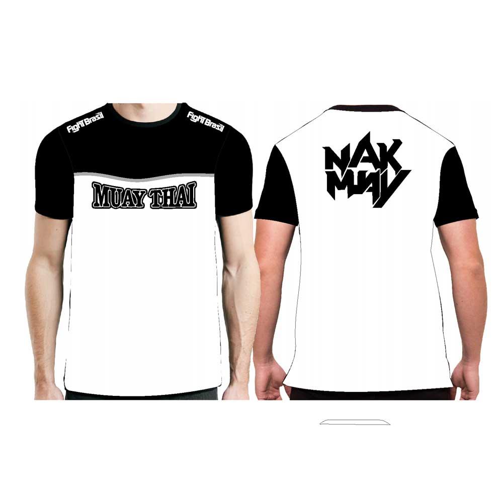Camisa Camiseta Muay Thai Nak Muay - Fb-2074 - Branca