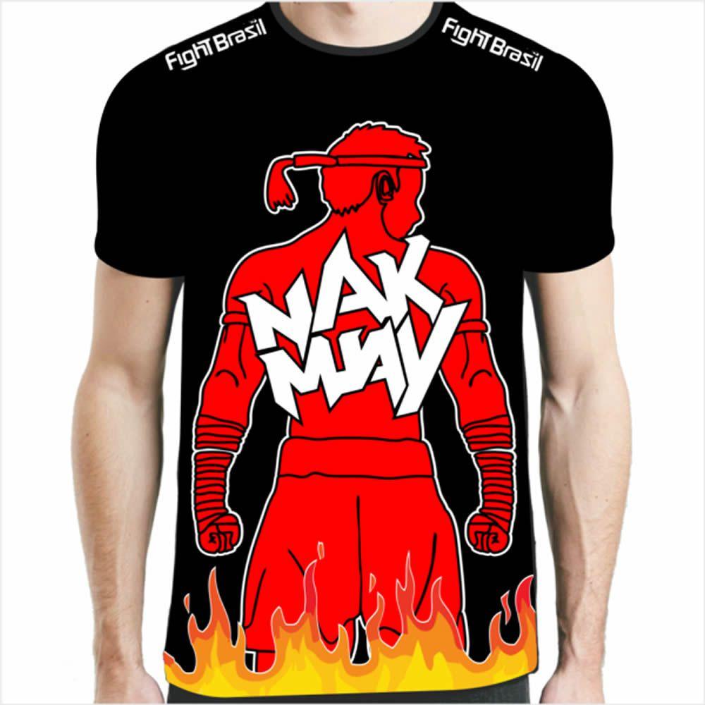 Camisa Camiseta Muay Thai - Nak Muay - Preta