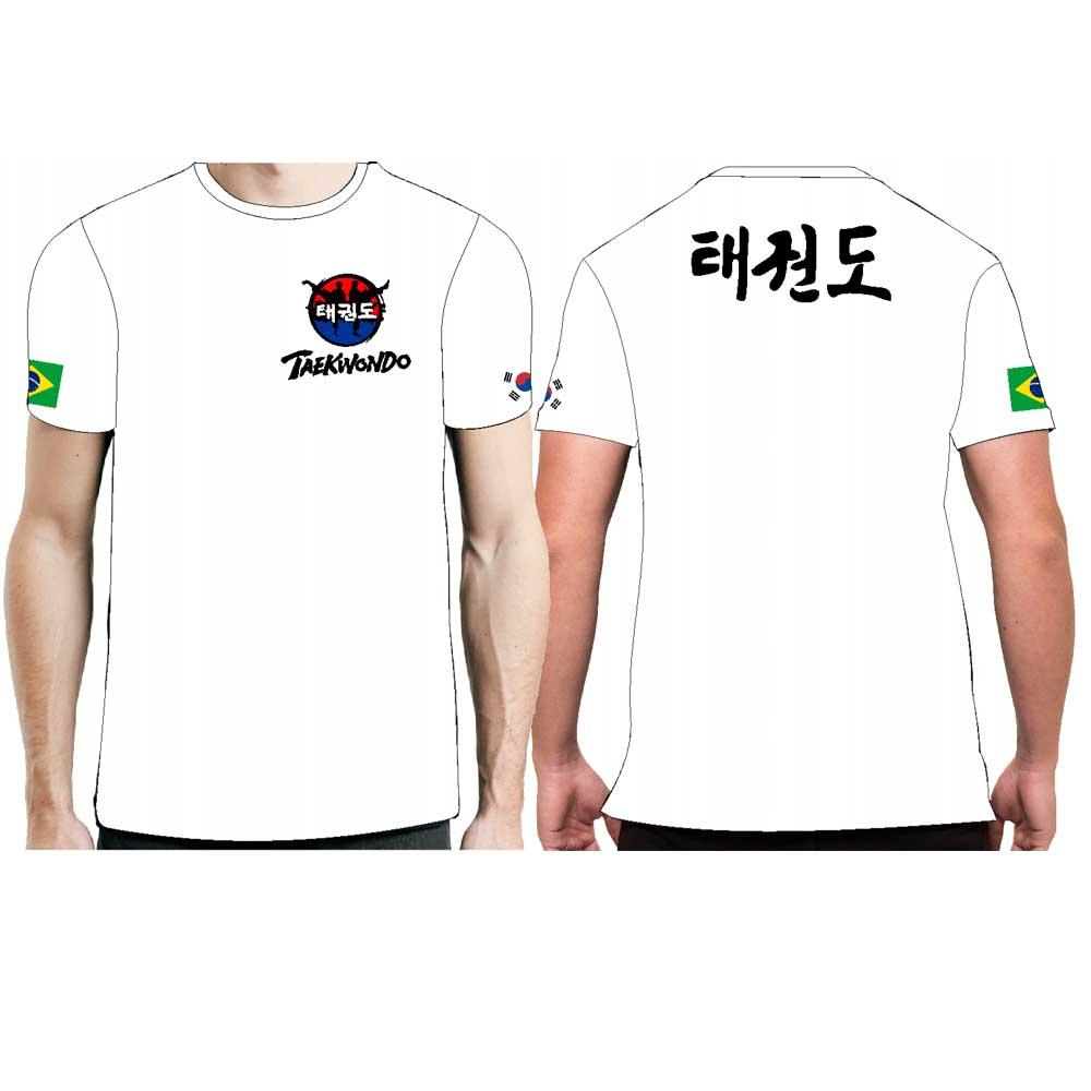 Camisa Camiseta Taekwondo Hangul - FB-2071 - Branca