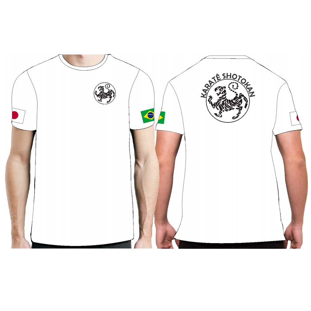 Camiseta Karate Hoan Kosugi Shotokan - Fb-2067 - Branca