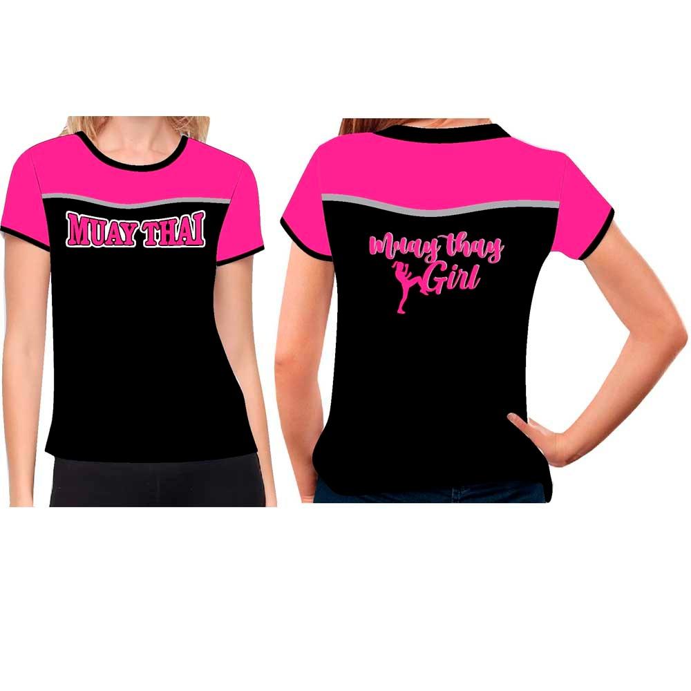 Camiseta Muay Thai Girl - Baby Look Feminina - Fb-2072P