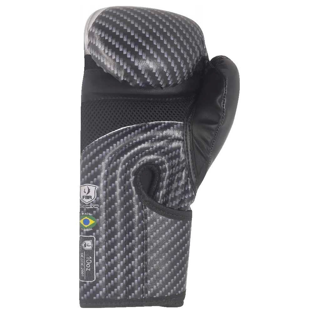 LANÇAMENTO - Luvas Kick Boxe Muay Thai Injetada Carbon Black - Par