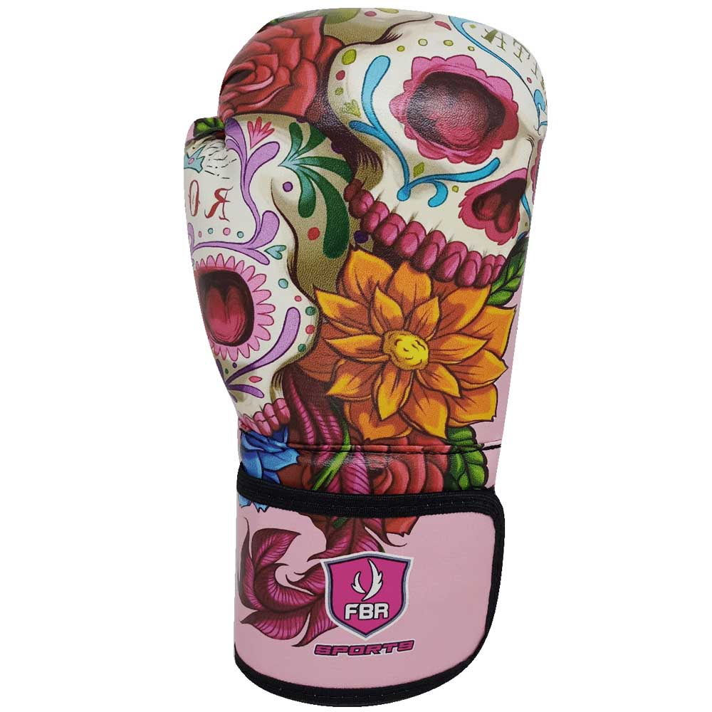 LANÇAMENTO - Luvas Kick Boxe Muay Thai Injetada Mexican Skull - Par