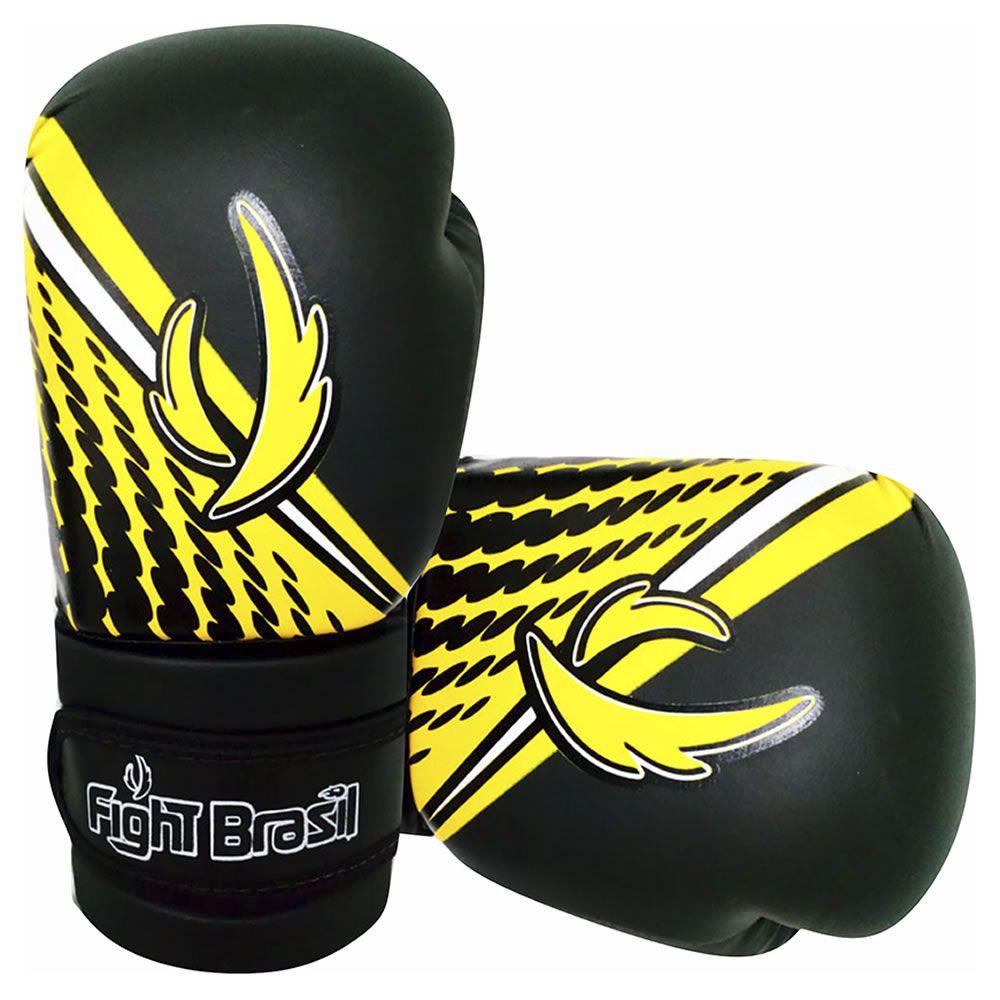 Luvas de Kick Boxe Muay Thai Injetada - Athrox - Amarela - Par