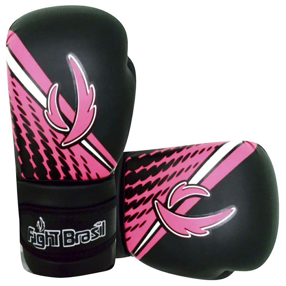 Luvas de Kick Boxe Muay Thai Injetada - Athrox - Rosa - Par