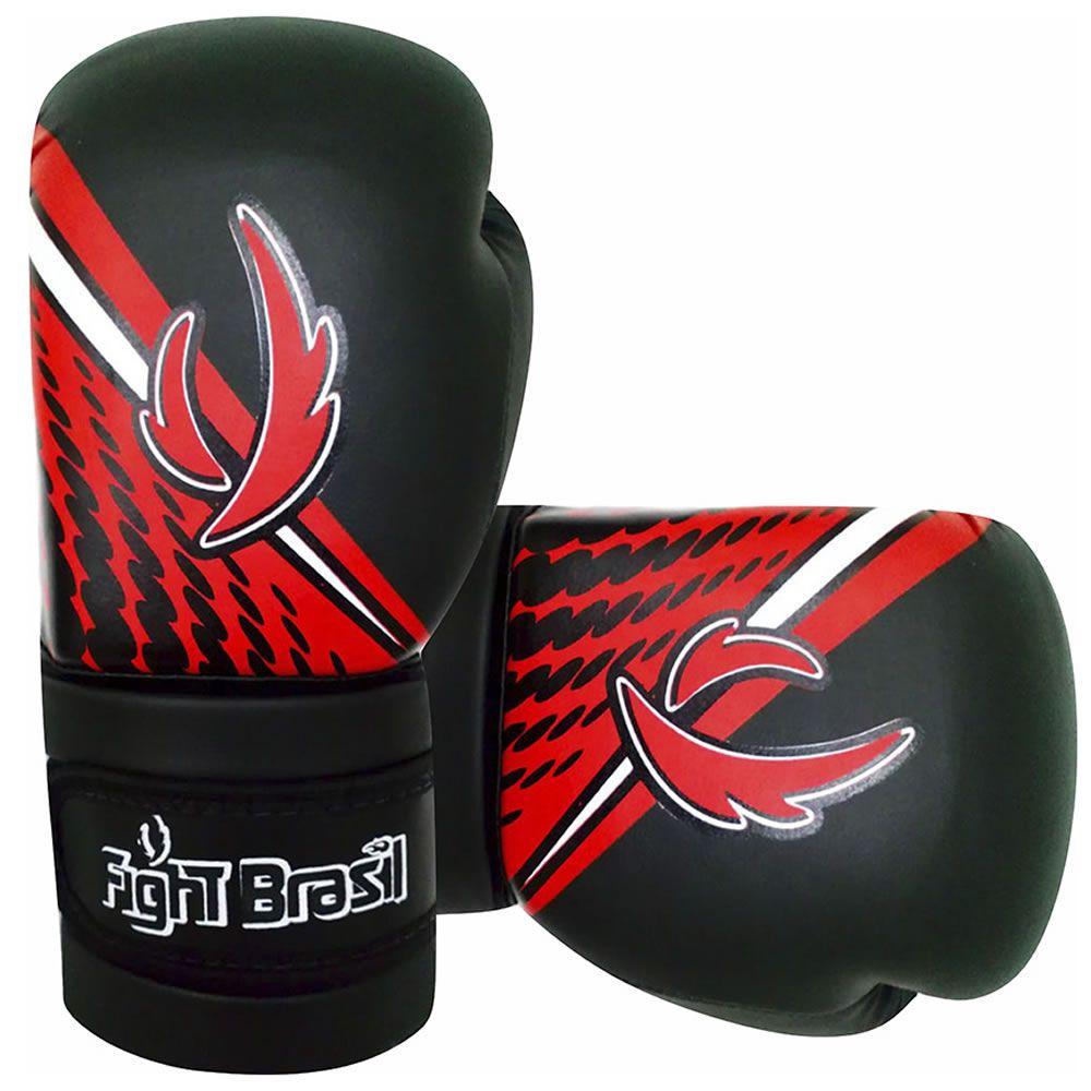 Luvas de Kick Boxe Muay Thai Injetada - Athrox - Vermelha - Par