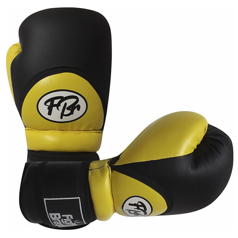 Luvas de Kick Boxe Muay Thai Injetada - FBr - Amarela - Par