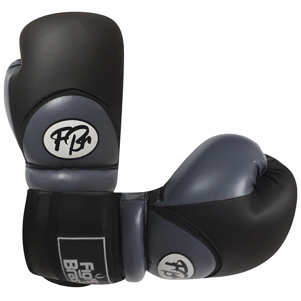 Luvas de Kick Boxe Muay Thai Injetada - FBr - Cinza - Par
