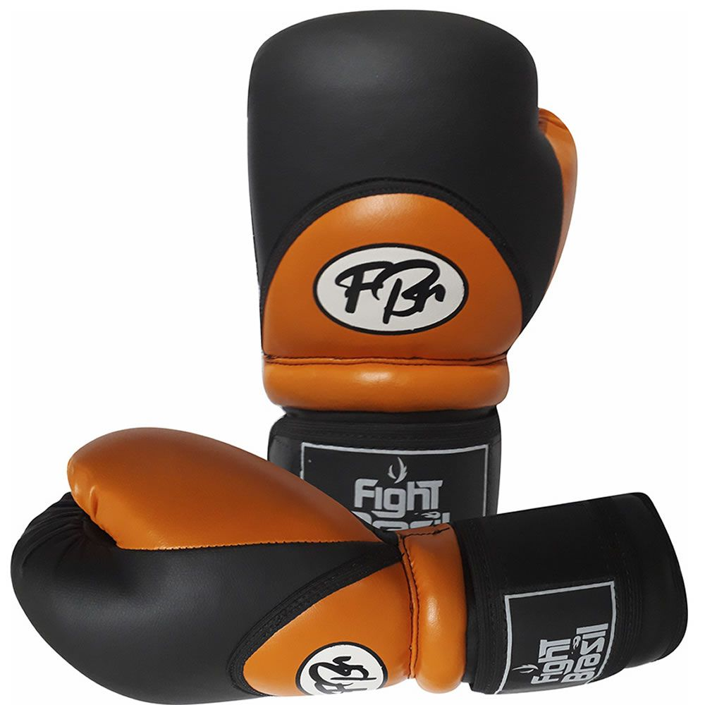 Luvas de Kick Boxe Muay Thai Injetada - FBr - Laranja - Par