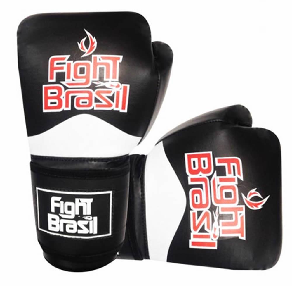 Luvas de Kick Boxe Muay Thai - Preta - FBX-1374