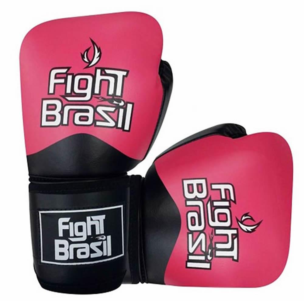 Luvas de Kick Boxe Muay Thai - Rosa - FBX-1374