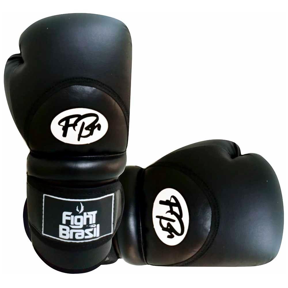 Luvas Kick Boxe Muay Thai Injetada - FBr - Toda Preta - Par