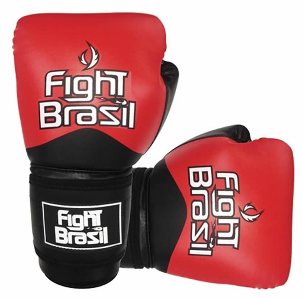 Luvas Kick Boxe Muay Thai - Vermelha FBX-1374 - 10 Oz