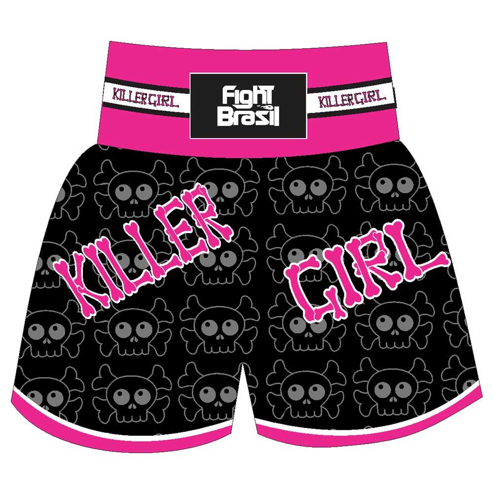 Short Calção Kick Boxing Muay Thai - New Killer Girl - Preto