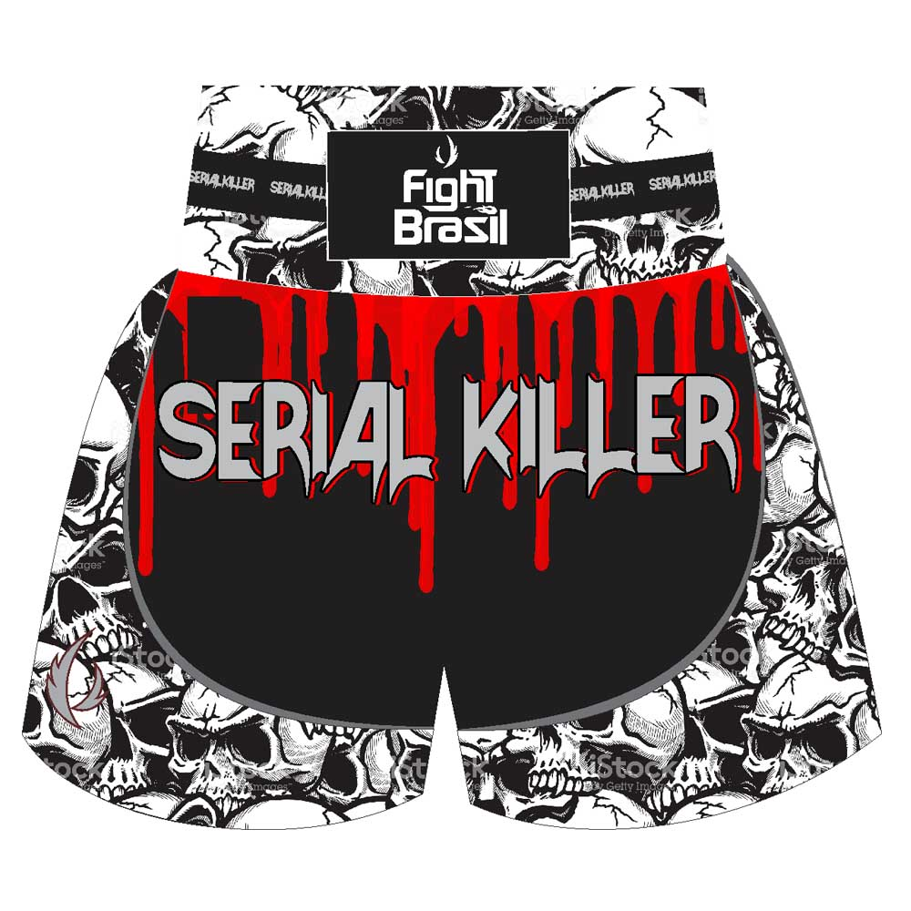 Short Calção Kick Boxing Muay Thai - Serial Killer Skull