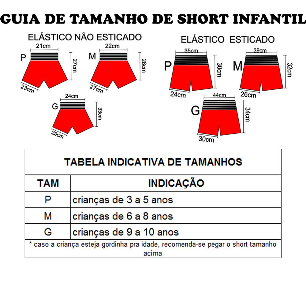 Short Calção Muay Thai Kids - Infantil - Preto