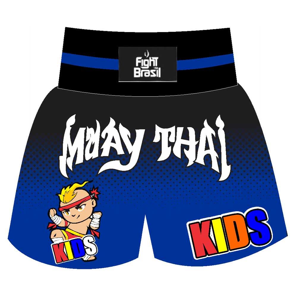 Short Calção Muay Thai New Kids - Infantil - Azul