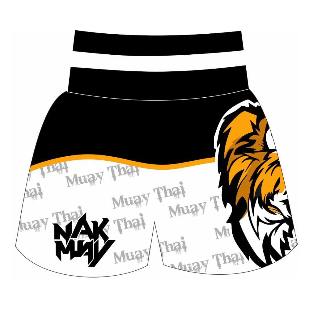 Short Calção Muay Thai - White Tiger - Unid