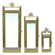 3 Lanternas Douradas Aachen 50,5 Cm