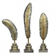 3 Penas Douradas 56 Cm