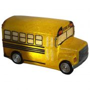 Luminária Infantil Led Onibus Escolar Amarelo 22,5 Cm