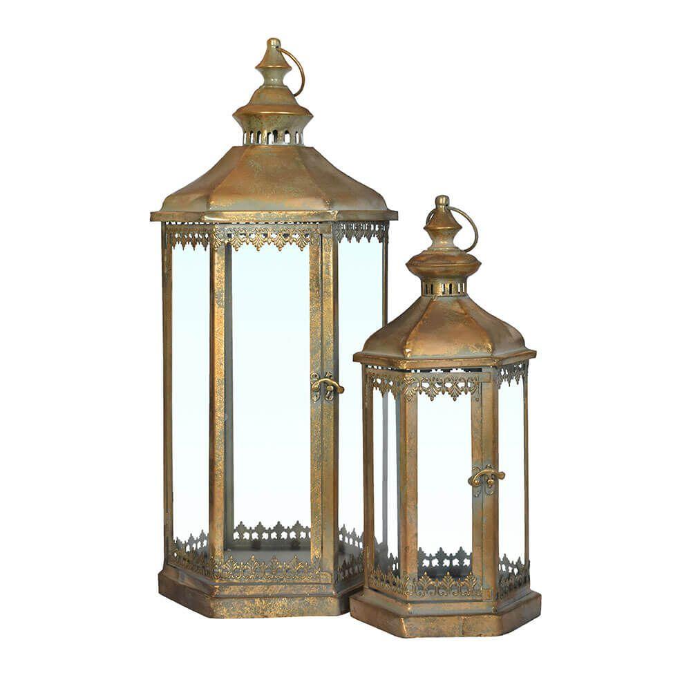 2 Lanternas Ouro Velho Vessem 60 Cm