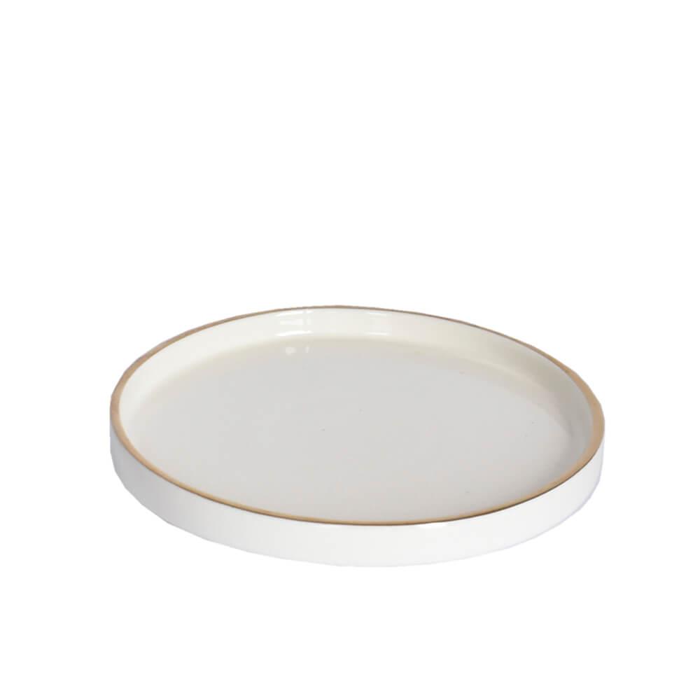 Bandeja Redonda Branca Beta G 20,5 Cm