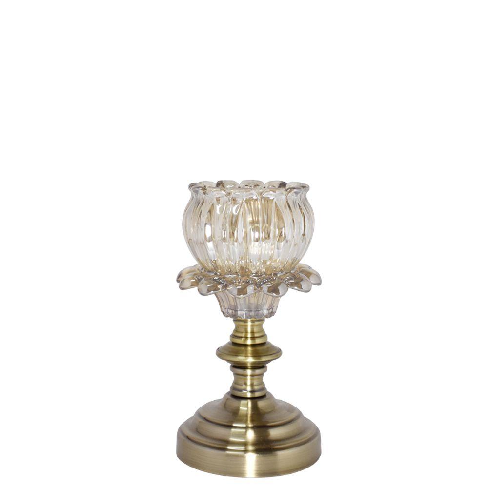 Castiçal Bronze Amaryllis G 23,5 Cm