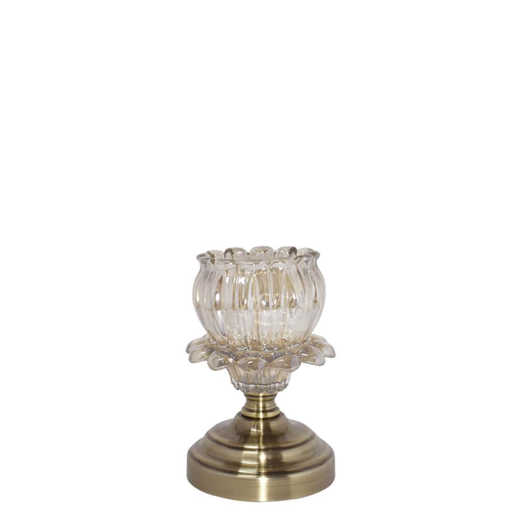 Castiçal Bronze Amaryllis P 19 Cm