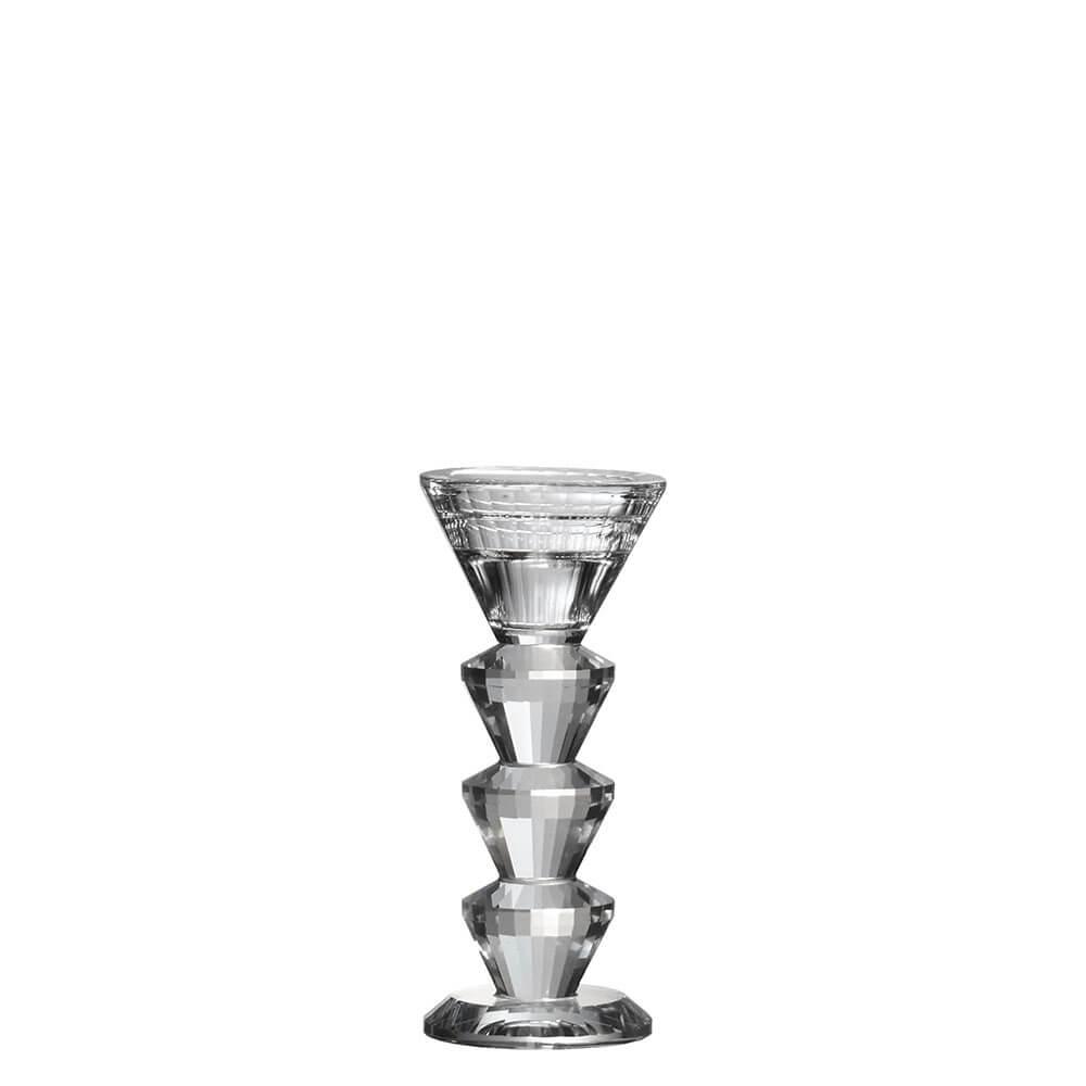 Castiçal de Cristal Lapidado Halle M 15 Cm