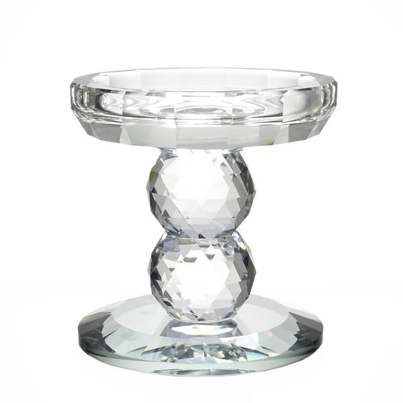 Castiçal de Cristal Lapidado Nyfors M 10 Cm