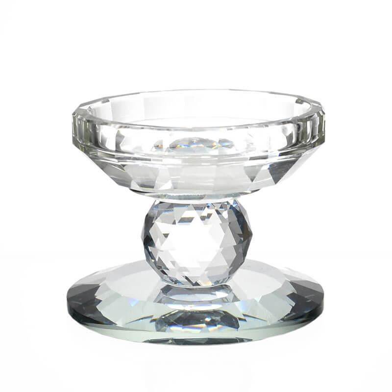 Castiçal de Cristal Lapidado Nyfors P 7,5 Cm