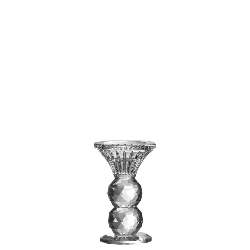 Castiçal de Cristal Lapidado Seiffen G 11 Cm