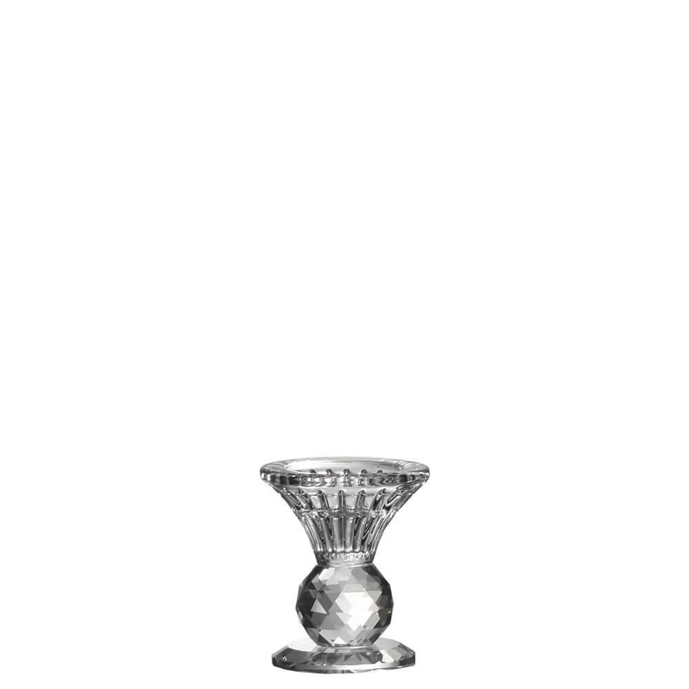 Castiçal de Cristal Lapidado Seiffen P 8 Cm