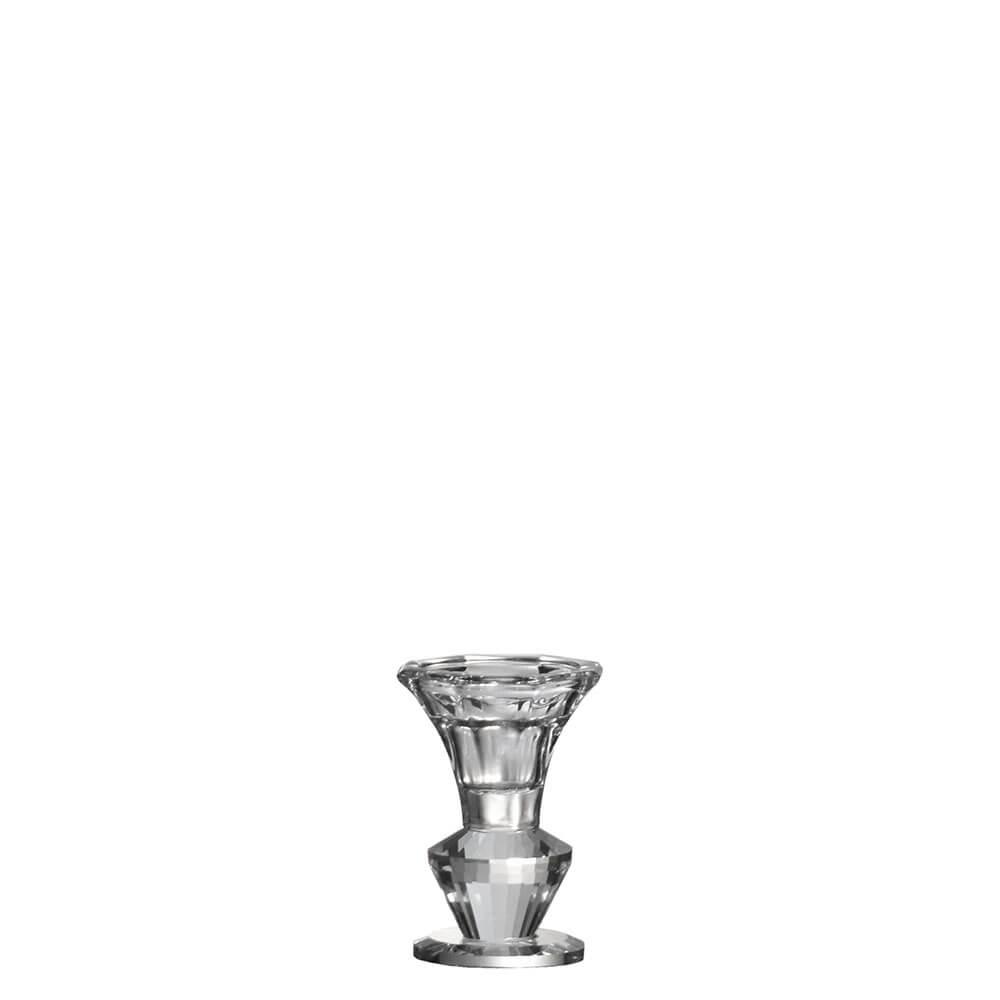 Castiçal de Cristal Lapidado Steghof P 8,5 Cm