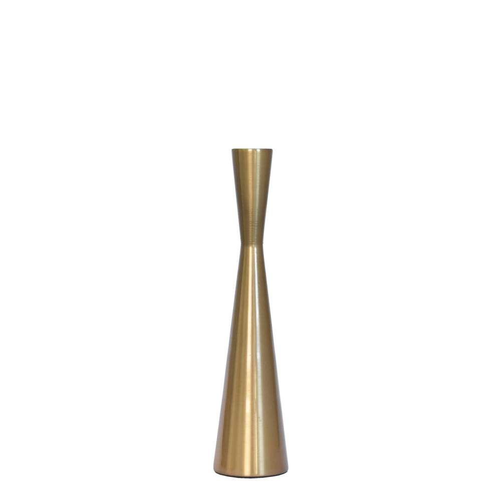 Castiçal Dourado Fuzzo G 26,5 Cm