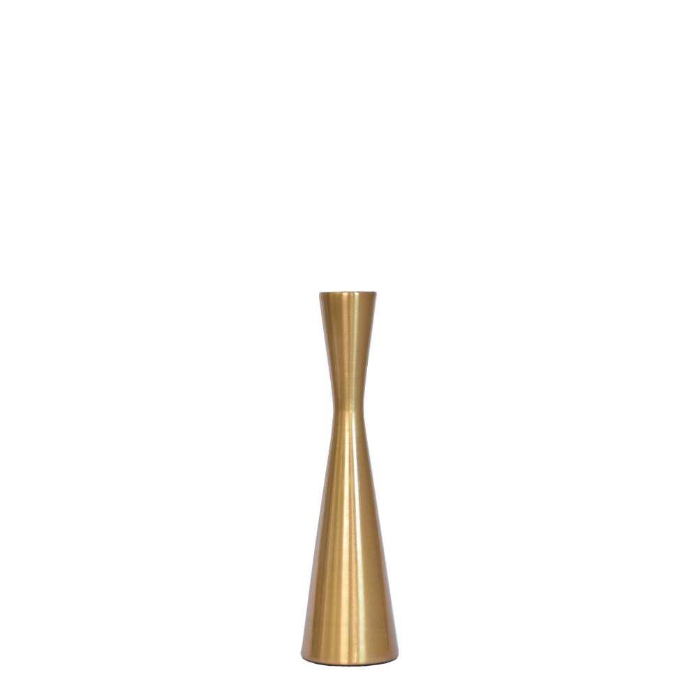 Castiçal Dourado Fuzzo M 22 Cm