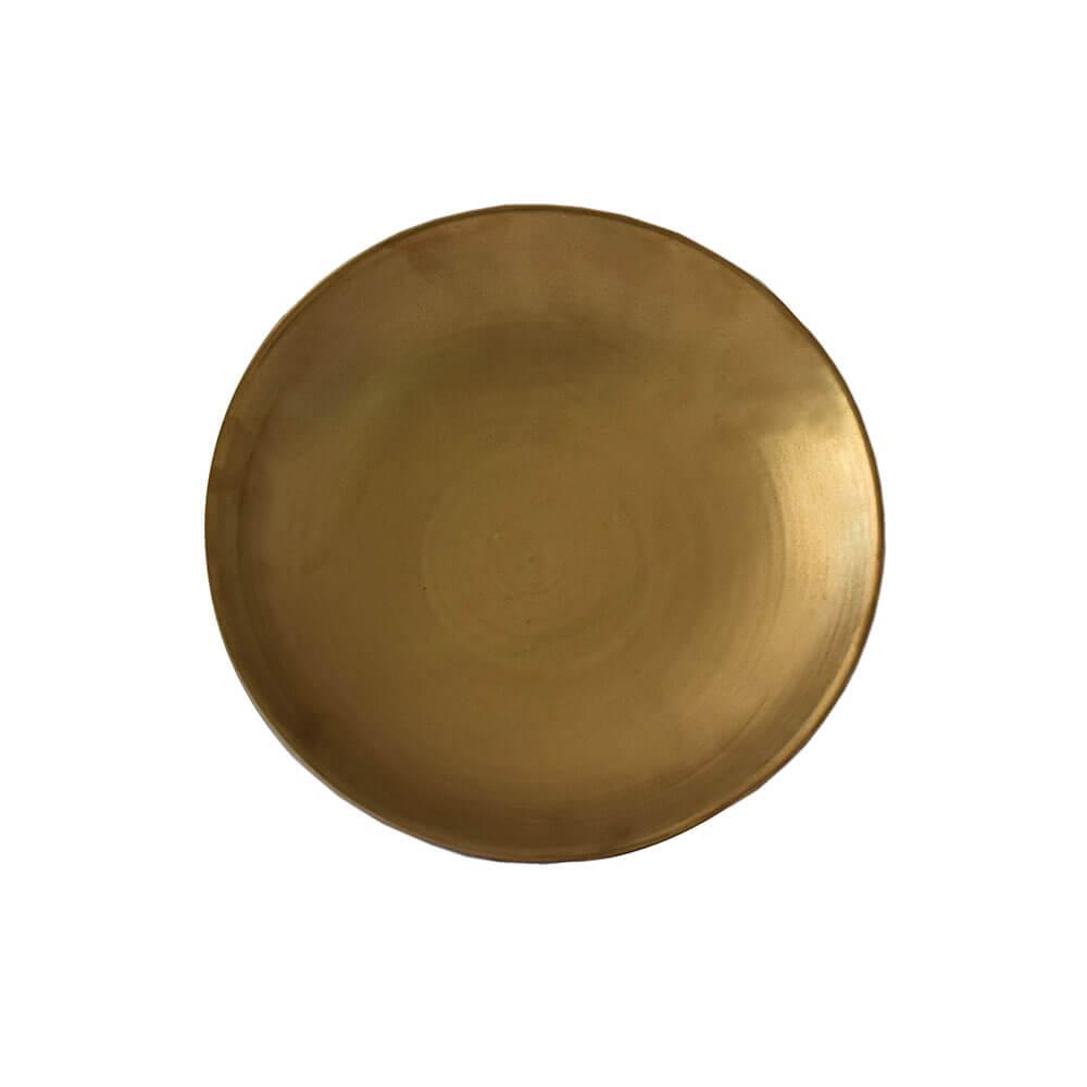 Centro de Mesa Dourado Reggio Liso 28 Cm