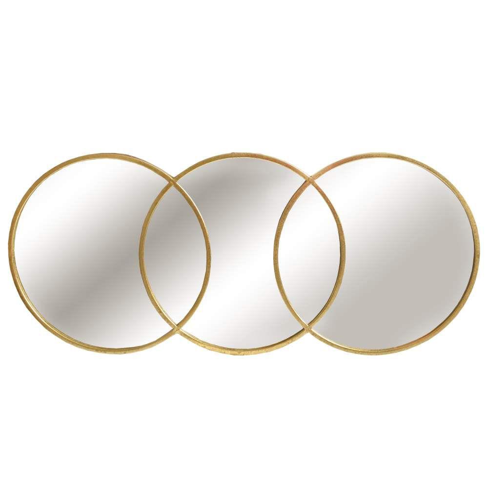 Espelho Dourado Archi 92 Cm