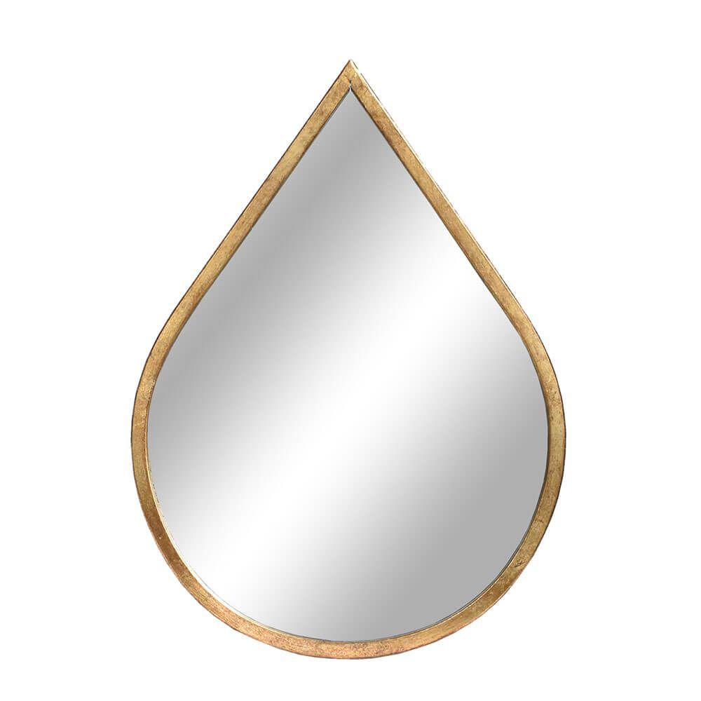 Espelho Dourado Gota 47,5 Cm