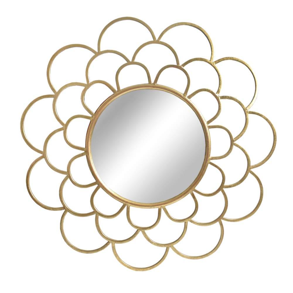 Espelho Dourado Rosette 83 Cm