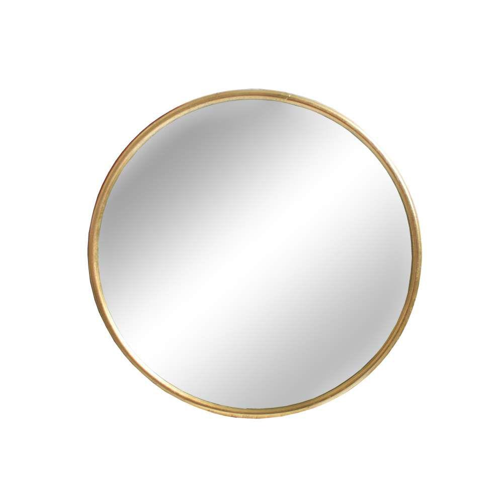 Espelho Redondo Dourado Clark G 60 Cm