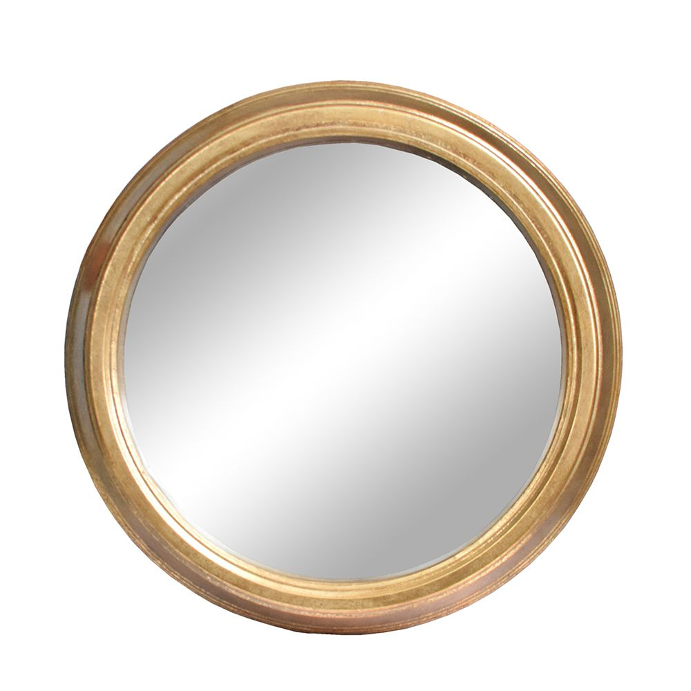 Espelho Redondo Dourado Roma 50 Cm