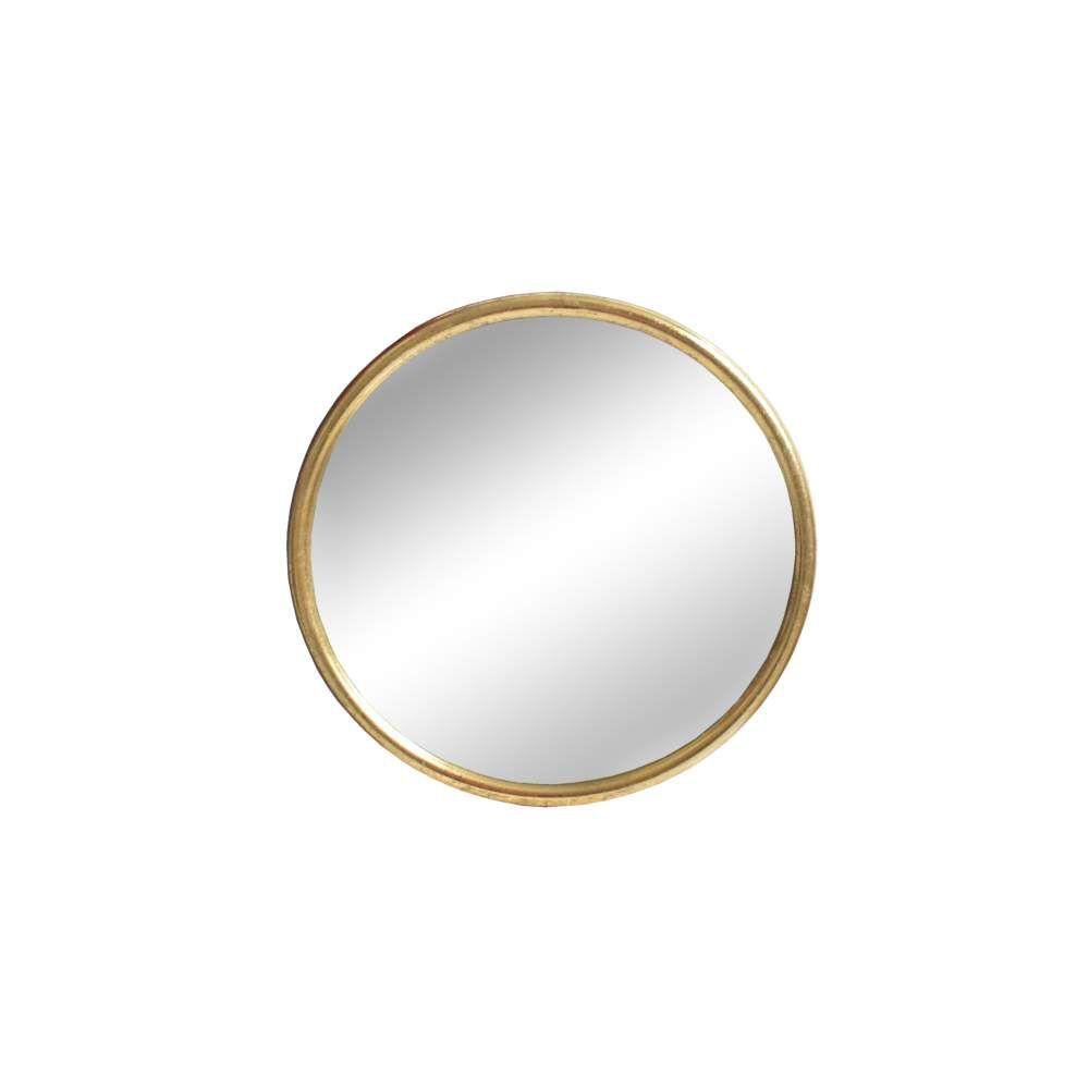 Espelho Redonto Dourado Clark P 40 Cm