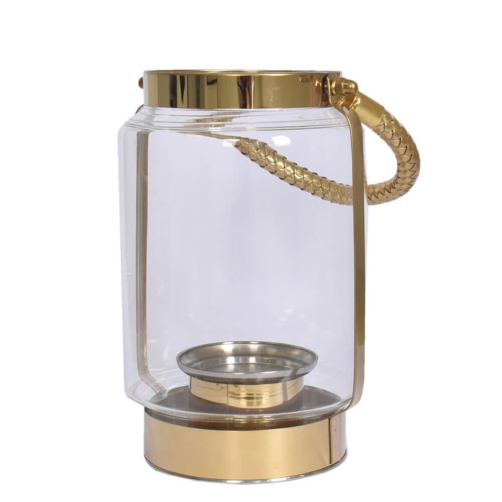 Lanterna Dourada Golden G 23,5 Cm