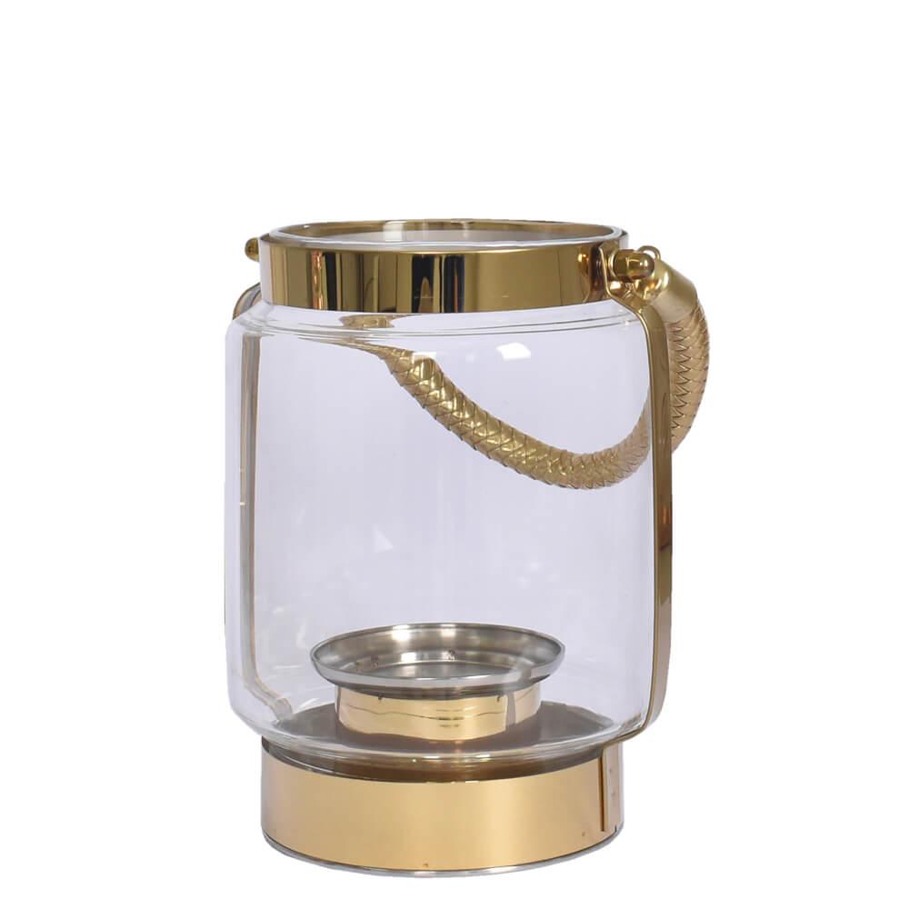 Lanterna Dourada Golden P 20,5 Cm