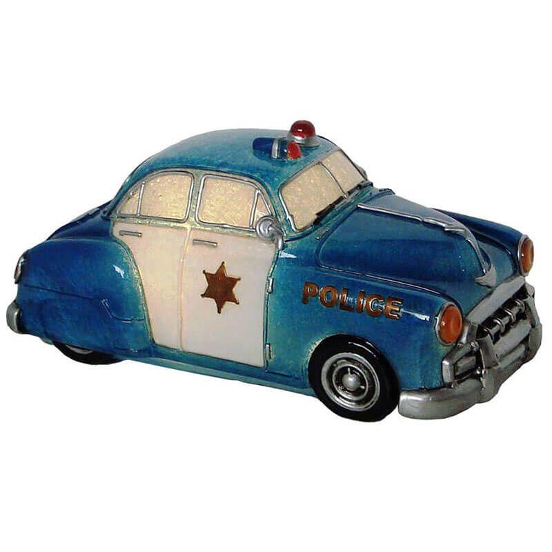 Luminária Infantil Led Polícia Azul 23 Cm